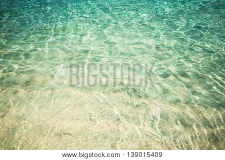 Crystal clear sea water at tropical beach