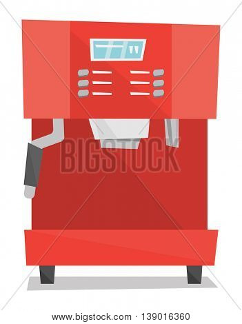 Modern coffee machine vector flat design illustration isolated on white background.