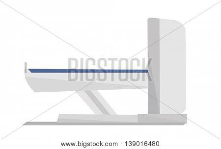 Magnetic resonance imaging. Modern medical quipment. Vector flat design illustration isolated on white background.