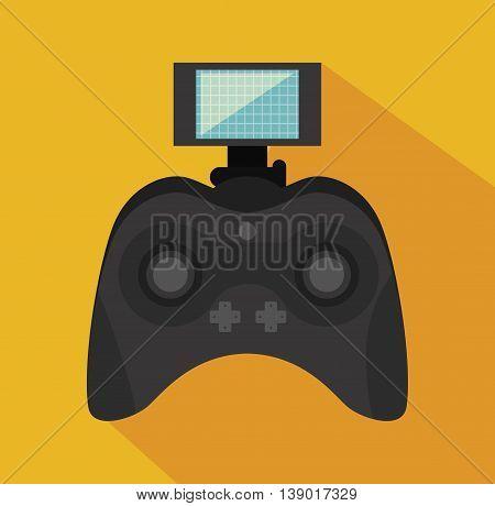 remote control drone isolated icon design, vector illustration  graphic