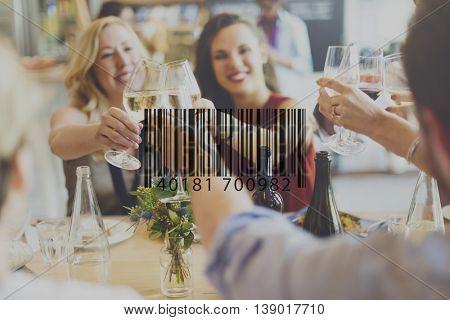 Barcode Mark Sign Market Item Concept