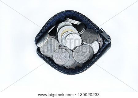 Small leather coin purse, Bag handy, Coin Collection