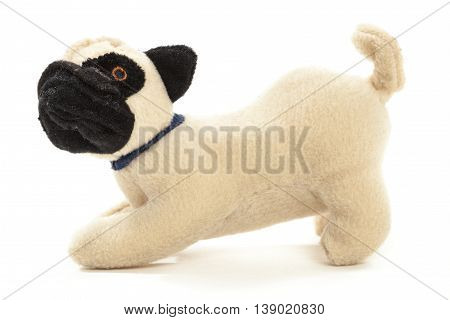 Stuffed animal puppy isolated over white background
