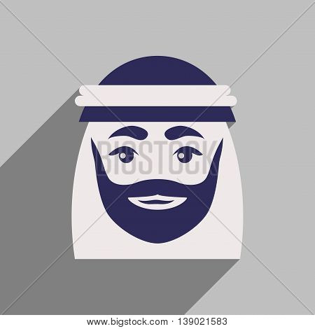 flat icon with long shadow Arab men