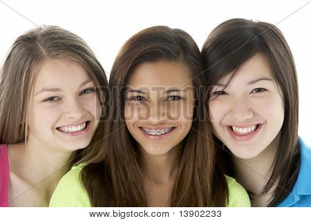 Group of Teenage Friends in Studio