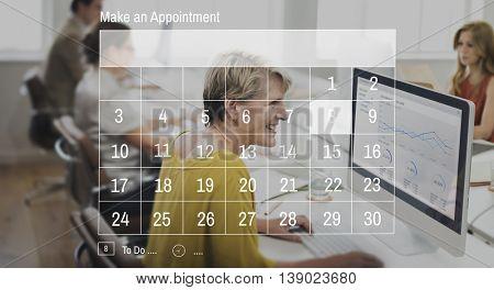 Calendar Agenda Appointment Deadline Meeting Concept