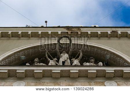 Volgograd Railway Station Decoration