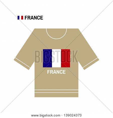 French t-shirt symbol. France National sport team isolated on white. European Championship.