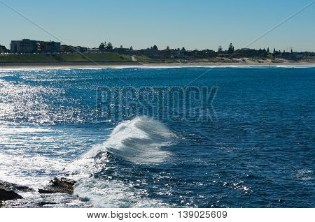 Abstract Ocean Background With Glistening Sparkling Wave
