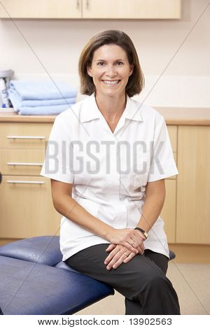Portrait of chiropodist in clinic