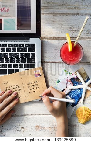 Postcard Communication Connection Correspondence Summer Concept
