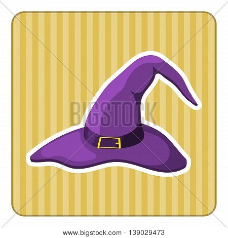 Vector Cartoon Witch Hat colorful illustration, icon