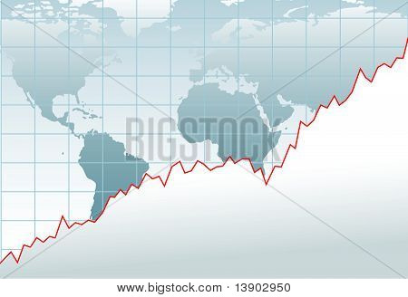 Chart Global Economy Financial Growth Map