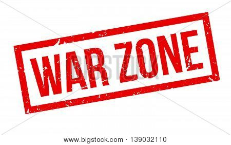 War Zone Rubber Stamp