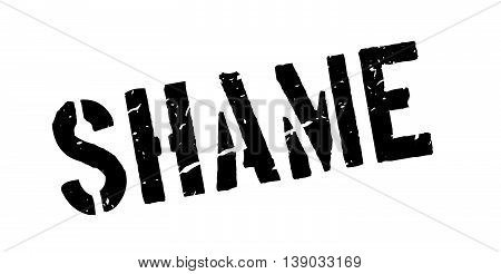 Shame Rubber Stamp