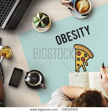 Fast food Unhealthy Snacks Calories Fat Concept