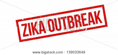 Zika Outbreak Rubber Stamp