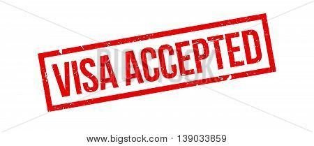 Visa Accepted Rubber Stamp