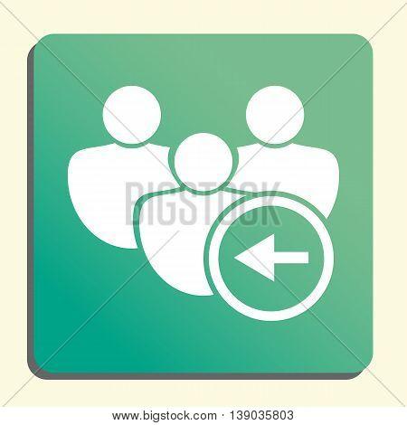 User Left Icon In Vector Format. Premium Quality User Left Symbol. Web Graphic User Left Sign On Gre