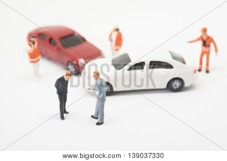 Car Crash Accident Scene