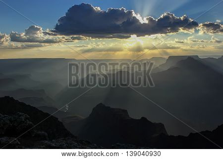 sunset at Grand Canyon, Arizona, America, national parks of America