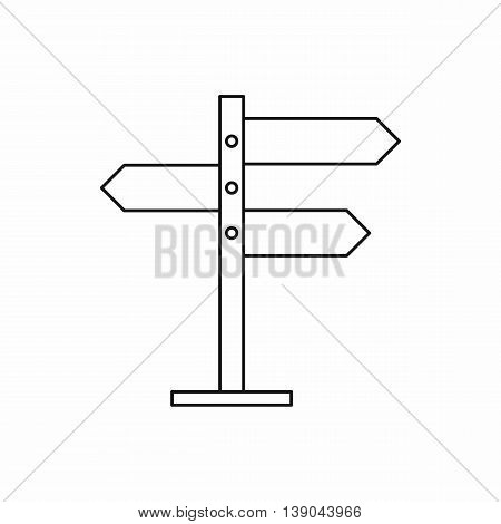 Direction signs icon in outline style isolated vector illustration