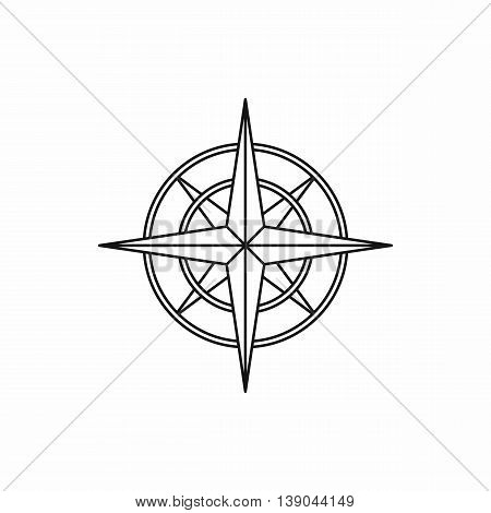 Ancient compass icon in outline style isolated vector illustration