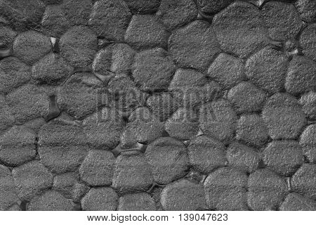 Gray extruded polystyrene foam texture background, close up