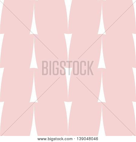 Tile vector pattern with white print on pastel pink background