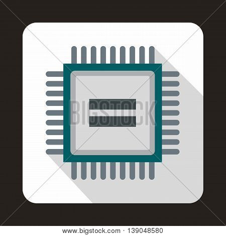 Electronic circuit board icon in flat style on a white background