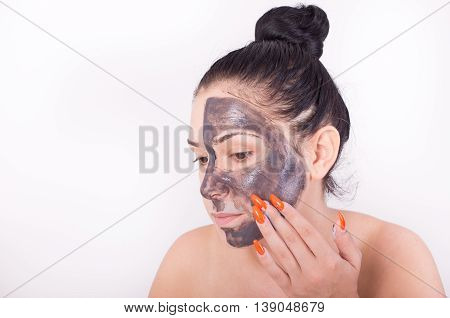 Woman With Facial Mask