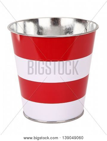 Lovely striped red white bucket
