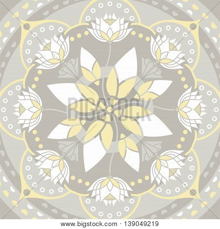 mandala pattern background on the topic of yoga and lotus flower design