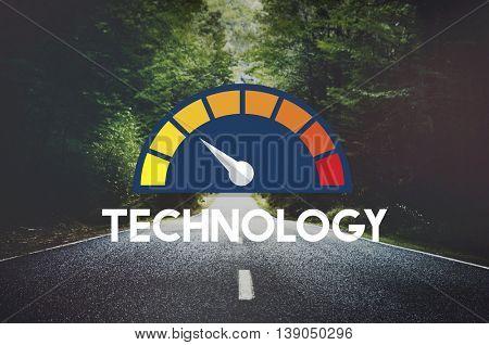 Internet Speed Test Software Concept