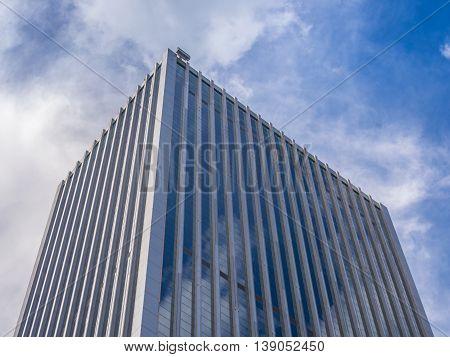Skyscraper Building and Sky View Scene in Big City