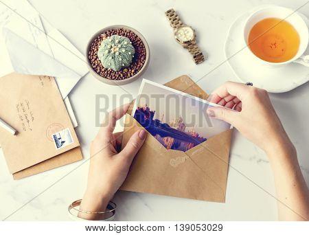Postcard Letters Tea Desk Concept