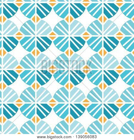 Seamless Pattern Of Abstract Flowers. Vector Illustration Background