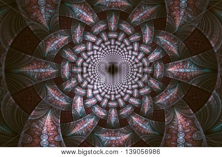 Abstract fractal fantasy psychedelic pattern.Fractal artwork for creative designflyer cover interior poster.