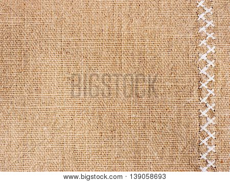 Cotton Fabric With Cross Stitch As Background