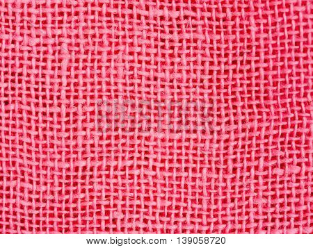 Natural Pink Fabric Weaving As Background Texture