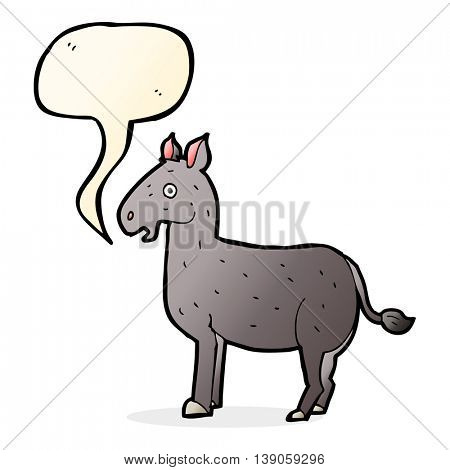 cartoon mule with speech bubble