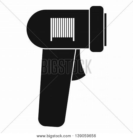 Barcode scanner icon in simple style isolated vector illustration