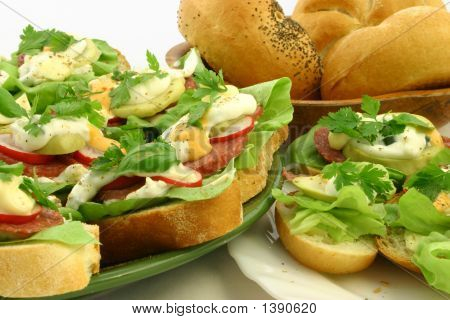 Close Up At Spring Time Sandwiches