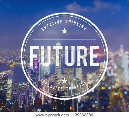 Future Futuristic Forecast imagine Time Vision Plan Concept