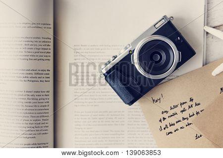 Camera Book Memories Experience Record Concept