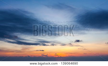 Evening sky with dramatic clouds