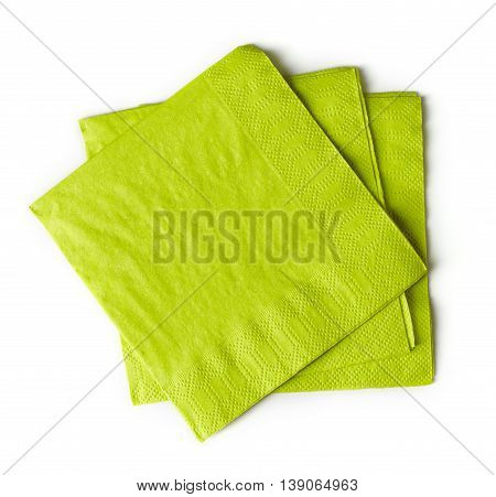 Green Paper Napkins