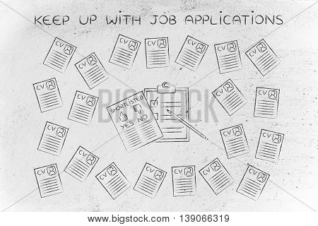 Shortlist Document Surrounded By Lots Of Resumes