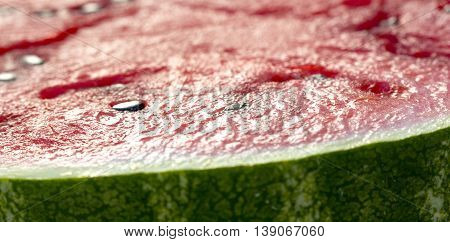 icture of a Fresh watermelon in a summer