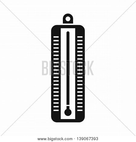 Thermometer indicates low temperature icon in simple style isolated vector illustration
